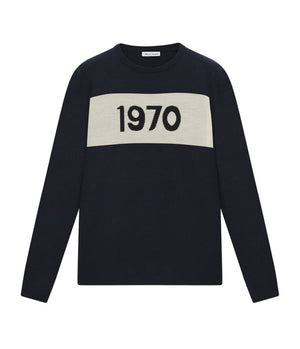 Bella Freud '1970' Knitted Jumper in Navy
