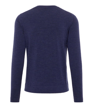 J.Lindeberg Newman Perfect Merino Knitted Jumper in Mid Blue