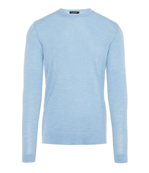 J.Lindeberg Newman Perfect Merino Knitted Jumper in Dusk Blue
