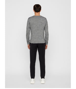 J Lindeberg Niklas Knitted Top in Black Melange