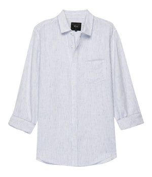 Rails Connor Shirt in White & Royal Blue Stripe - Man - bloke-white-denim