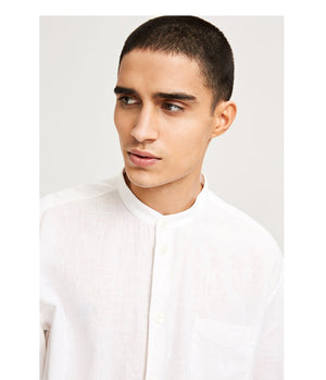 Samsoe and Samsoe Liam Shirt in White - Man - bloke-white-denim