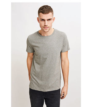 Samsoe and Samsoe Kronos Tee in Grey Marl - Man - bloke-white-denim