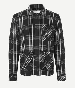 Samsoe Samsoe Tanaro Overshirt in Black Check