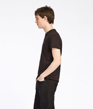 Samsoe and Samsoe Max Logo Tee in Black - Man - bloke-white-denim