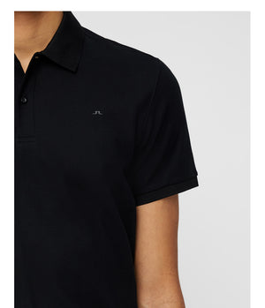 J.Lindeberg Troy Clean Pique Polo Shirt in Black