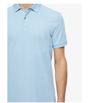 J.Lindeberg Troy Clean Pique Polo Shirt in Skyrim Blue