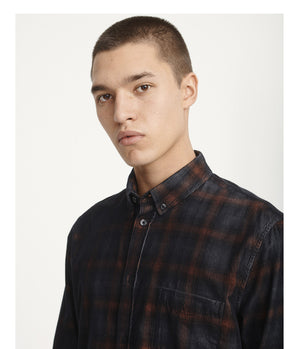 Samsoe Samsoe Liam shirt in Umber Check -  - bloke-white-denim
