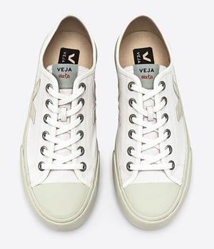 Veja Wata Canvas Pierre Trainers in All White - Man - bloke-white-denim
