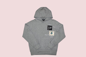 Missing Heart Hoodie - Grey