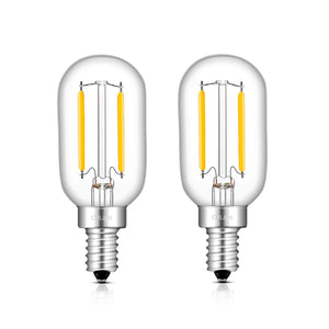 CRLight 1W 150LM LED Filament Retro Candelabra Bulbs 4000K Daylight (Neutral White, E12 Base, 15W Incandescent Equivalent, T22 Tubular  Shape, 2 Pack