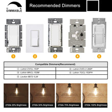 Load image into Gallery viewer, CRLight 8W 2700K Dimmable LED Edison Bulb Warm White 750LM, 75W Incandescent Equivalent E26 Base ST64 Vintage Filament Bulbs, 3 Pack