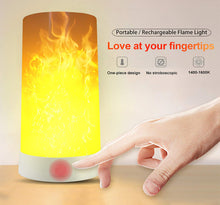 Load image into Gallery viewer, 2 Pack LED Simulated Fire Flicker Flame Effect E26 Base Light Bulb, Gravity Sensor and 4 Modes Emulation/Gravity Sensing/General/ Breathing