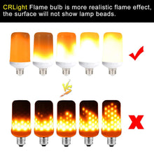 Load image into Gallery viewer, LED Simulated Fire Flicker Flame Effect Light Bulb, E26 7W with Gravity Sensor and 4 Modes Emulation/Gravity Sensing/General/ Breathing - 2 Pack