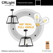Load image into Gallery viewer, CRLight 4W 4000K Dimmable LED Edison Bulb Daylight (Neutral White) 500LM, 50W Incandescent Equivalent E26 Base ST58 Vintage Filament Bulbs, 6 Pack
