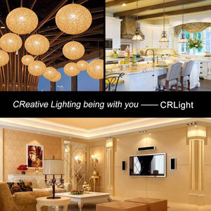 CRLight 6W 700LM Dimmable LED Filament Retro Candelabra Bulbs 2700K Warm White, E26 Base, 60W Incandescent Equivalent, G50 Clear Glass Globe Shape, 6 Pack