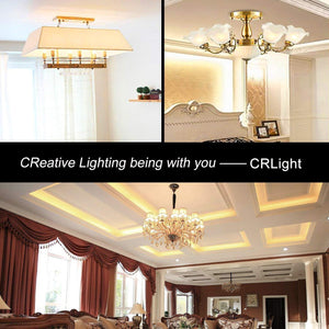 CRLight 6W 700LM Dimmable LED Filament Retro Candelabra Bulbs 3000K Soft White, E12 Base, 70W Incandescent Equivalent, Clear Glass Bullet Top, 4 Pack
