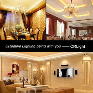 CRLight 2W 250LM Dimmable LED Filament Retro Candelabra Bulbs 2700K Warm White, E12 Base, 25W Incandescent Equivalent, Clear Glass Bullet Top, 6 Pack