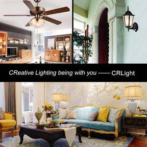 CRLight 6W 700LM Dimmable LED Filament Retro Candelabra Bulbs 3200K Soft White, E12 Base, 70W Incandescent Equivalent, Clear Glass Globe Shape, 6 Pack