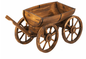 Apple Barrel Planter Wagon