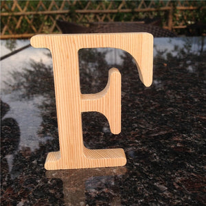 10cm High Wood Wooden Letters A to Z