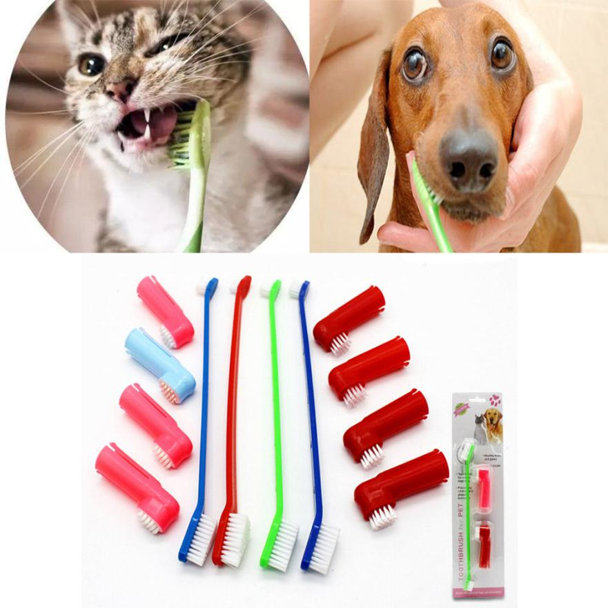 1 Set Pet Finger Toothbrush