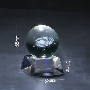 1 Piece 60mm Crystal Decorative Glass Ball