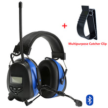 Load image into Gallery viewer, Bluetooth Earmuffs with Microphone AM/FM Radio