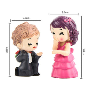 1 set Sweety Lovers Couple Chair Figurine