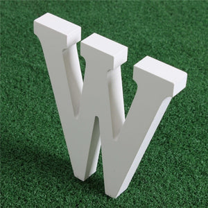 Creative Artificial Wooden White Letters