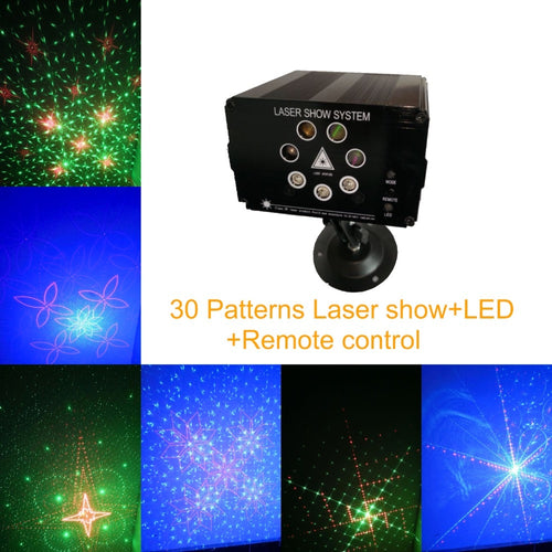 30 patterns LED Laser light show