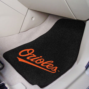 MLB - Baltimore Orioles 2-Piece Carpet Car Mat Set - Orioles Wordmark