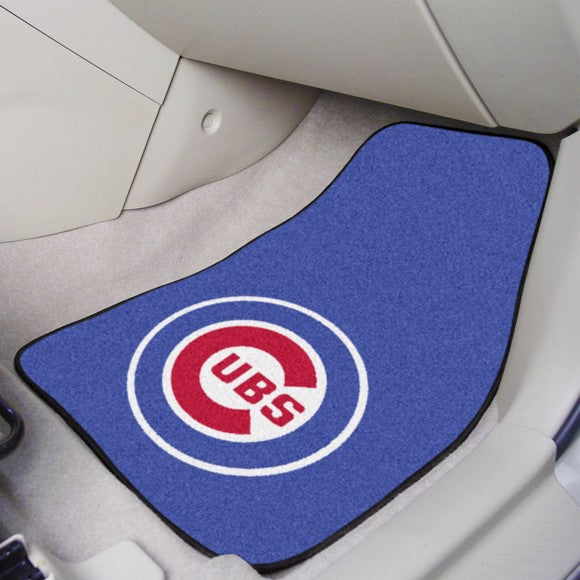 "MLB - Chicago Cubs Carpet Car Mat Set 17"" x 27"""