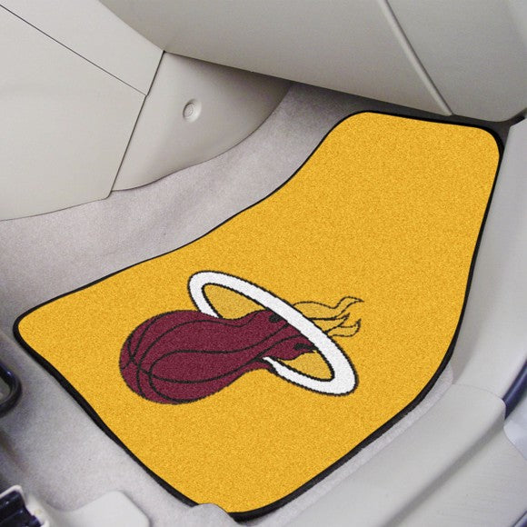 "NBA - Miami Heat Carpet Car Mat Set 17"" x 27"""
