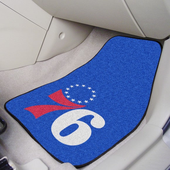 "NBA - Philadelphia 76ers Carpet Car Mat Set 17"" x 27"""