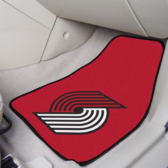 "NBA - Portland Trail Blazers Carpet Car Mat Set 17"" x 27"""