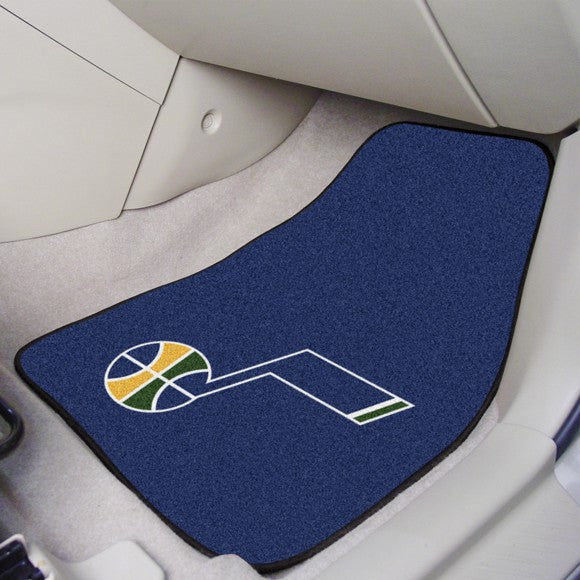 "NBA - Utah Jazz Carpet Car Mat Set 17"" x 27"""
