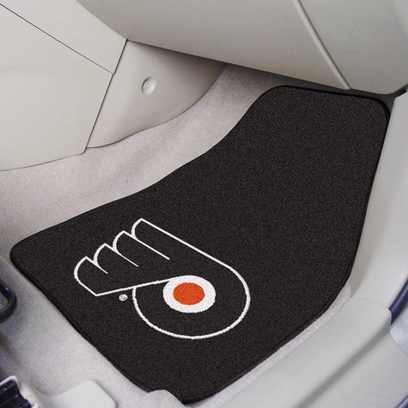 "NHL - Philadelphia Flyers Carpet Car Mat Set 17"" x 27"""