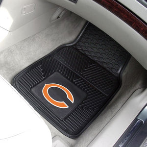 "NFL - Chicago Bears Vinyl Car Mat Set 17"" x 27"""