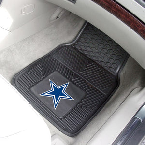 "NFL - Dallas Cowboys Vinyl Car Mat Set 17"" x 27"""