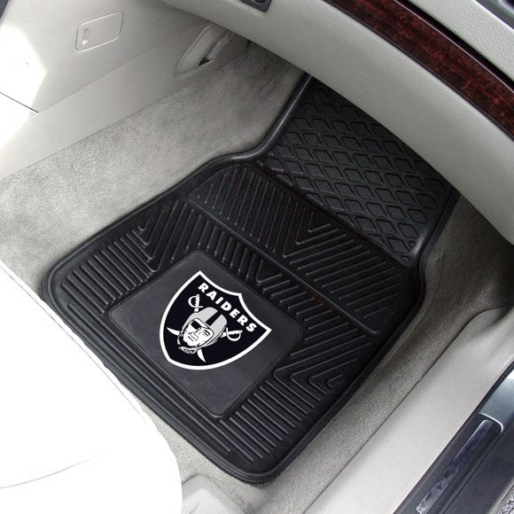 "NFL - Oakland Raiders Vinyl Car Mat Set 17"" x 27"""
