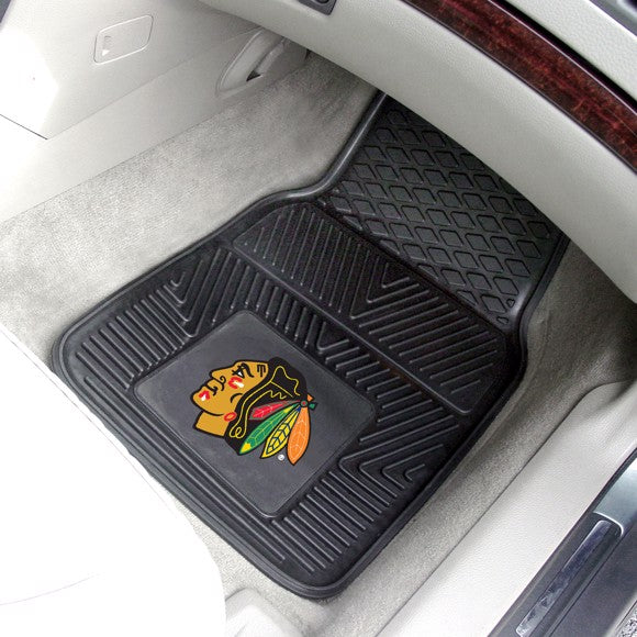 "NHL - Chicago Blackhawks Vinyl Car Mat Set 17"" x 27"""