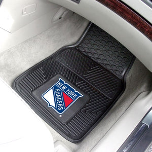 "NHL - New York Rangers Vinyl Car Mat Set 17"" x 27"""