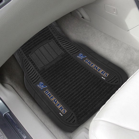 MLB - Milwaukee Brewers Deluxe Car Mat Set 21