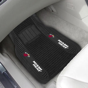 "NBA - Miami Heat Deluxe Car Mat Set 21"" x 27"""