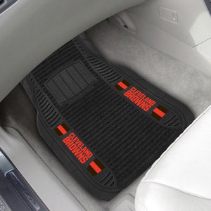 "NFL - Cleveland Browns Deluxe Car Mat Set 21"" x 27"""