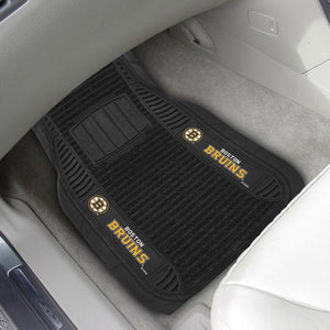 "NHL - Boston Bruins Deluxe Car Mat Set 21"" x 27"""