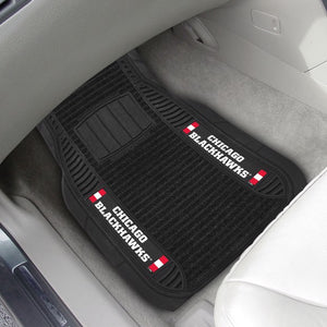 "NHL - Chicago Blackhawks Deluxe Car Mat Set 21"" x 27"""