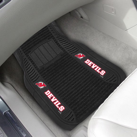 "NHL - New Jersey Devils Deluxe Car Mat Set 21"" x 27"""