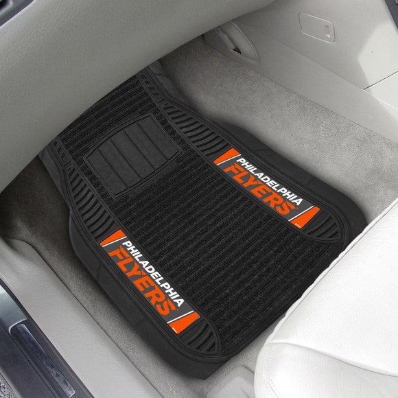 "NHL - Philadelphia Flyers Deluxe Car Mat Set 21"" x 27"""